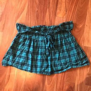 Dresses & Skirts - Plaid school girl skirt with front tie